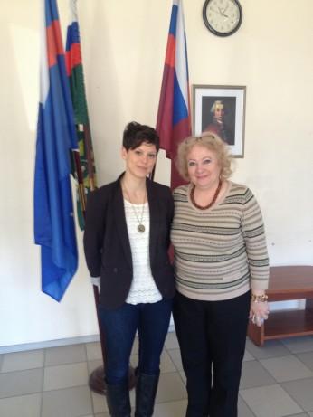 With Russian Colleague Larissa Dmitrievna Boichenko